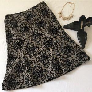 Beautiful LOFT Appliqué A-Line Skirt